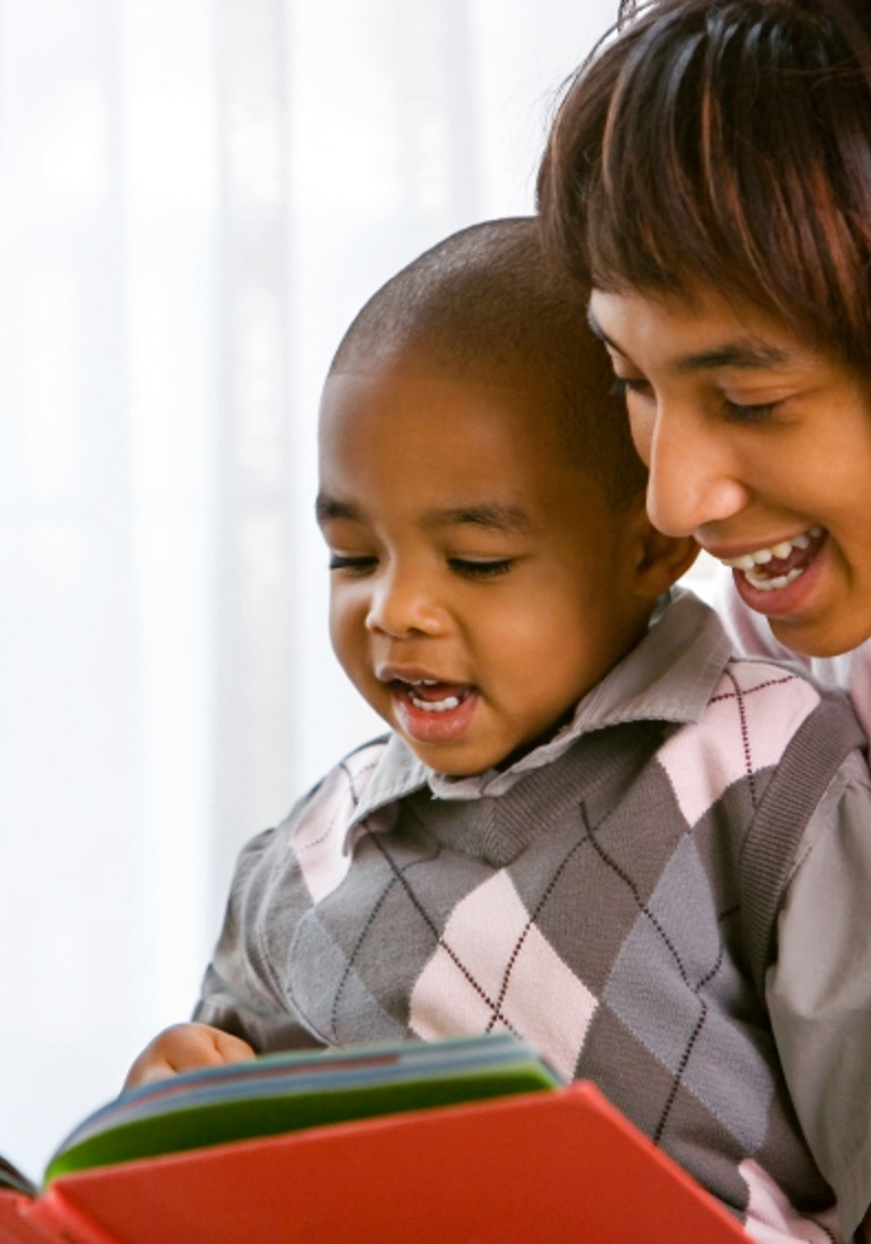 mother and son reading 2